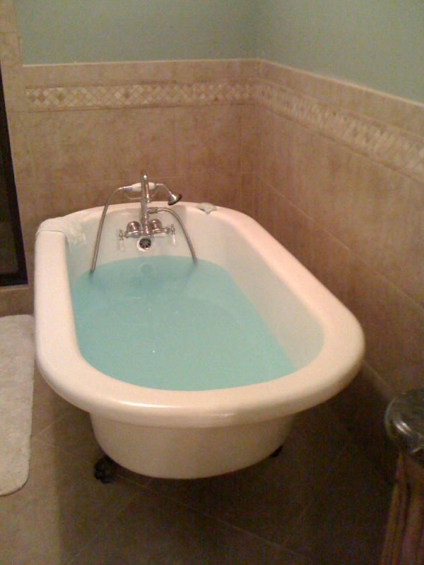 After Claw Foot tub
